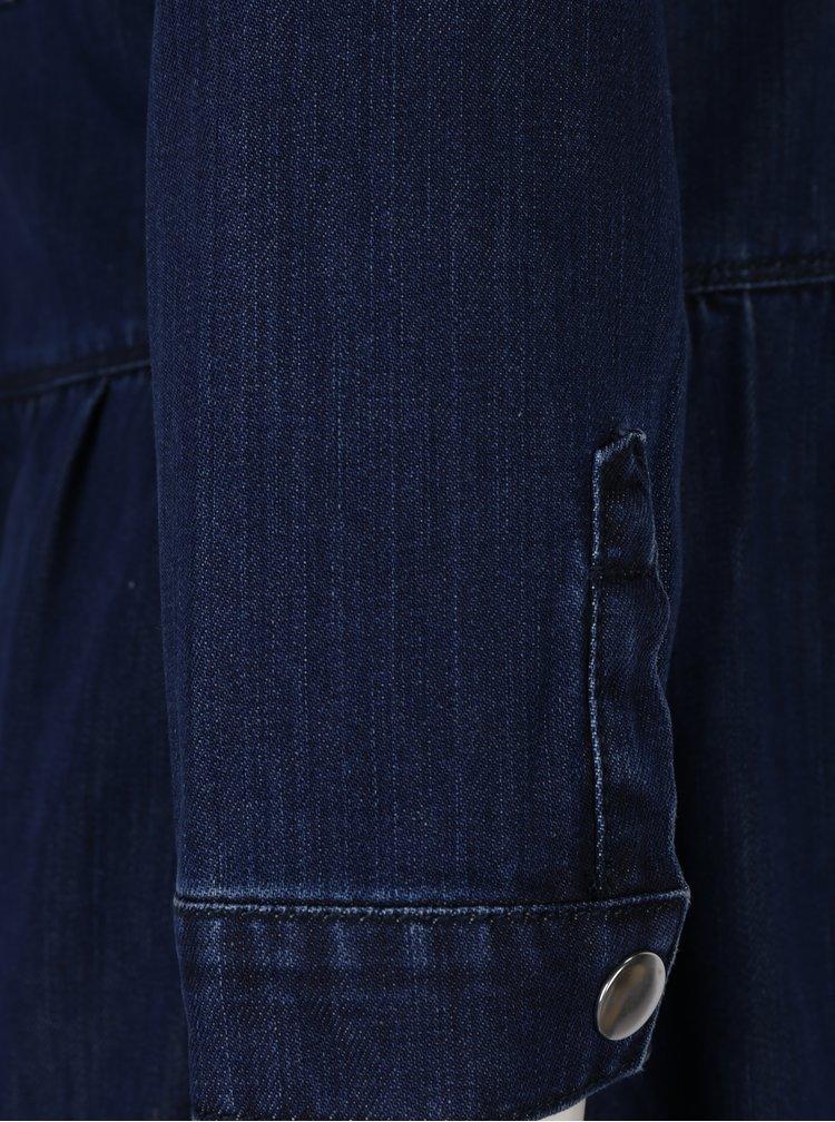 Camasa lunga Jen bleumarin cu maneci 3/4 ONLY
