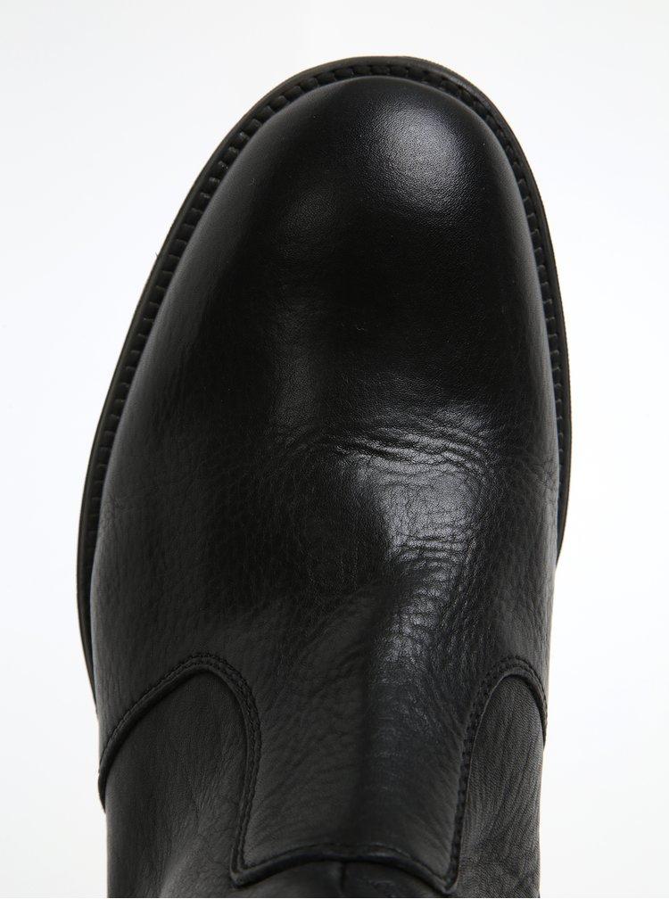 Ghete negre din piele cu cataramă pentru bărbați Geox Jaylon A