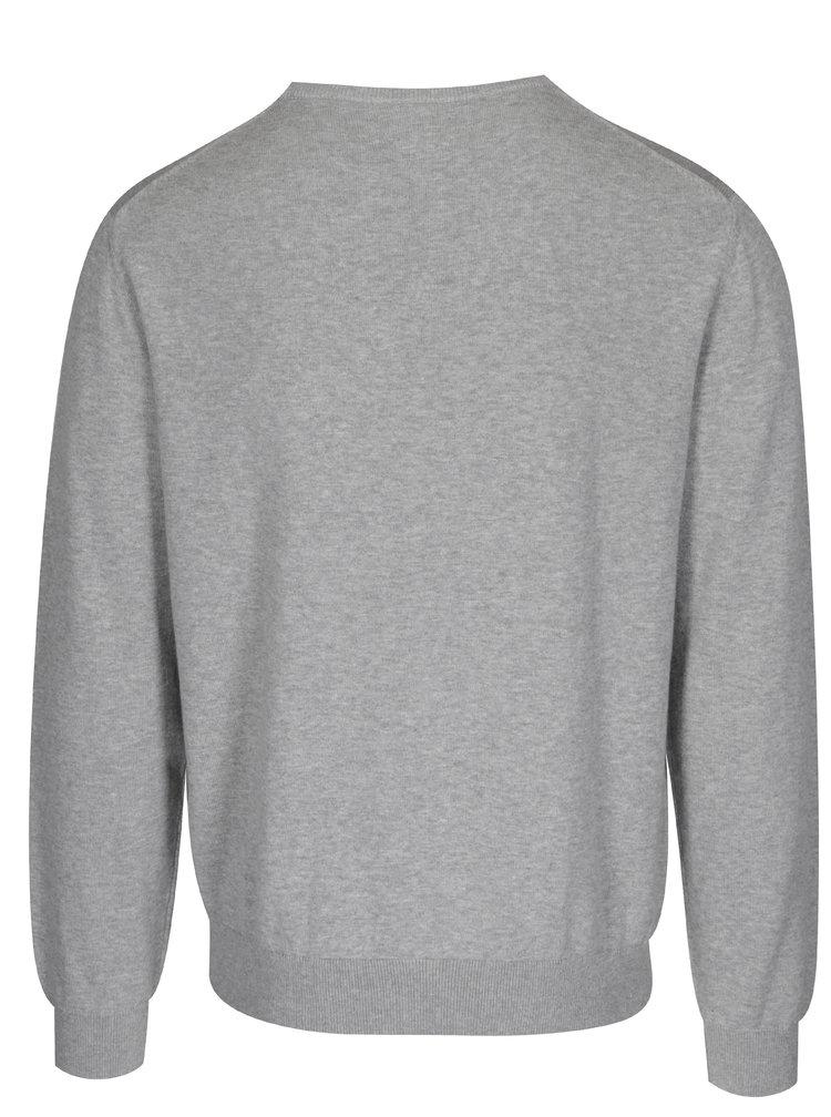 Šedý pánský žíhaný svetr GANT