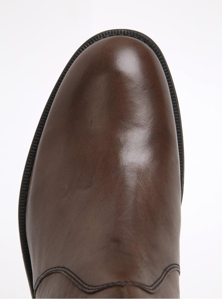Hnědé pánské kožené chelsea boty Geox Blaxe B