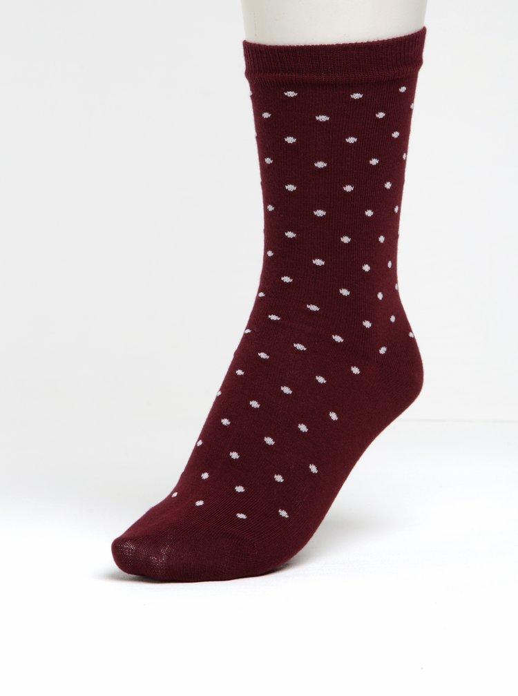 Sada dvou párů vínových dámských ponožek GANT