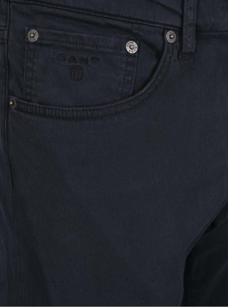 Tmavě modré pánské slim fit kalhoty GANT Desert