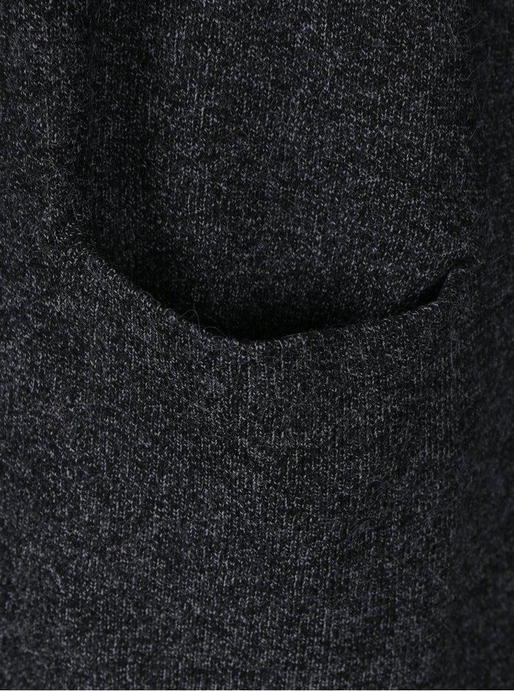 Tmavě šedý žíhaný kardigan s kapsami VERO MODA Brilliant