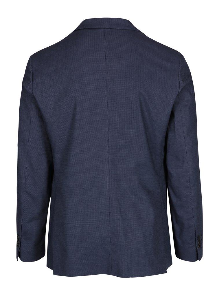 Modré pánske sako s jemným vzorom GANT