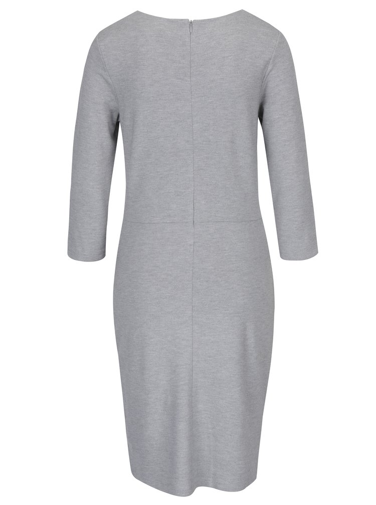 Šedé pouzdrové šaty s dlouhým rukávem GANT