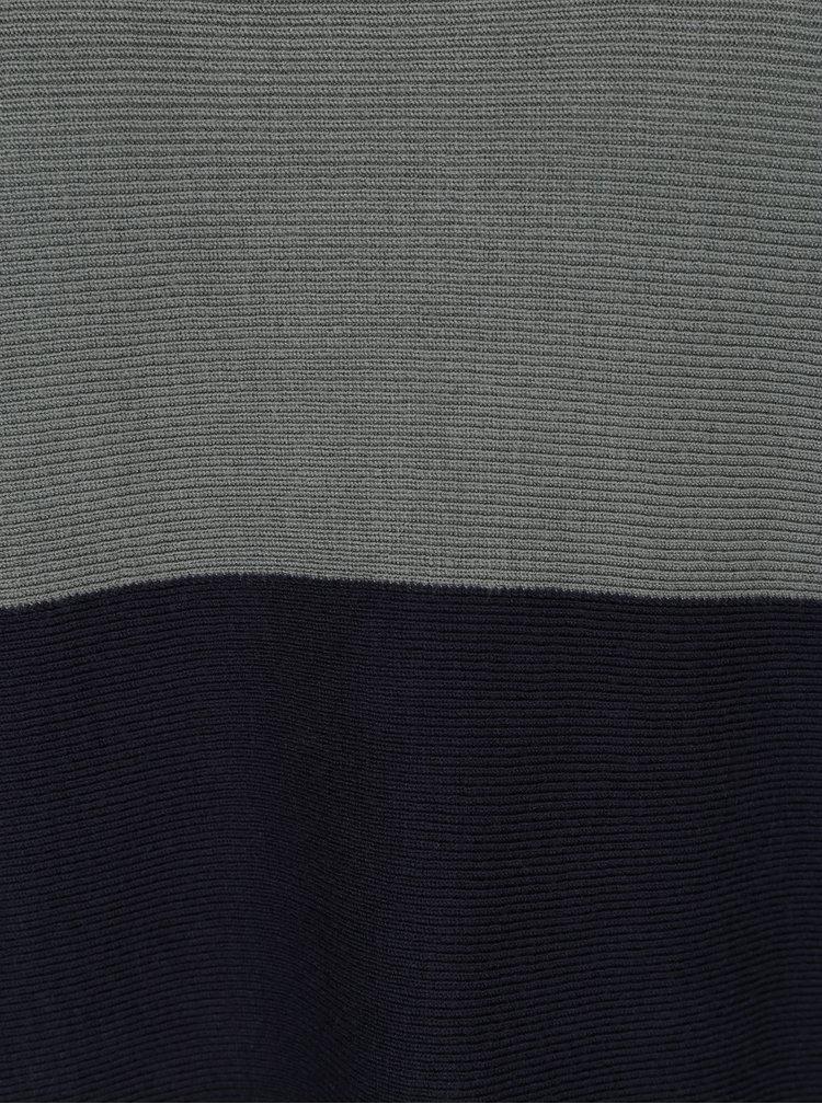 Krémovo-modrý pruhovaný svetr s 3/4 rukávy ONLY Regitze