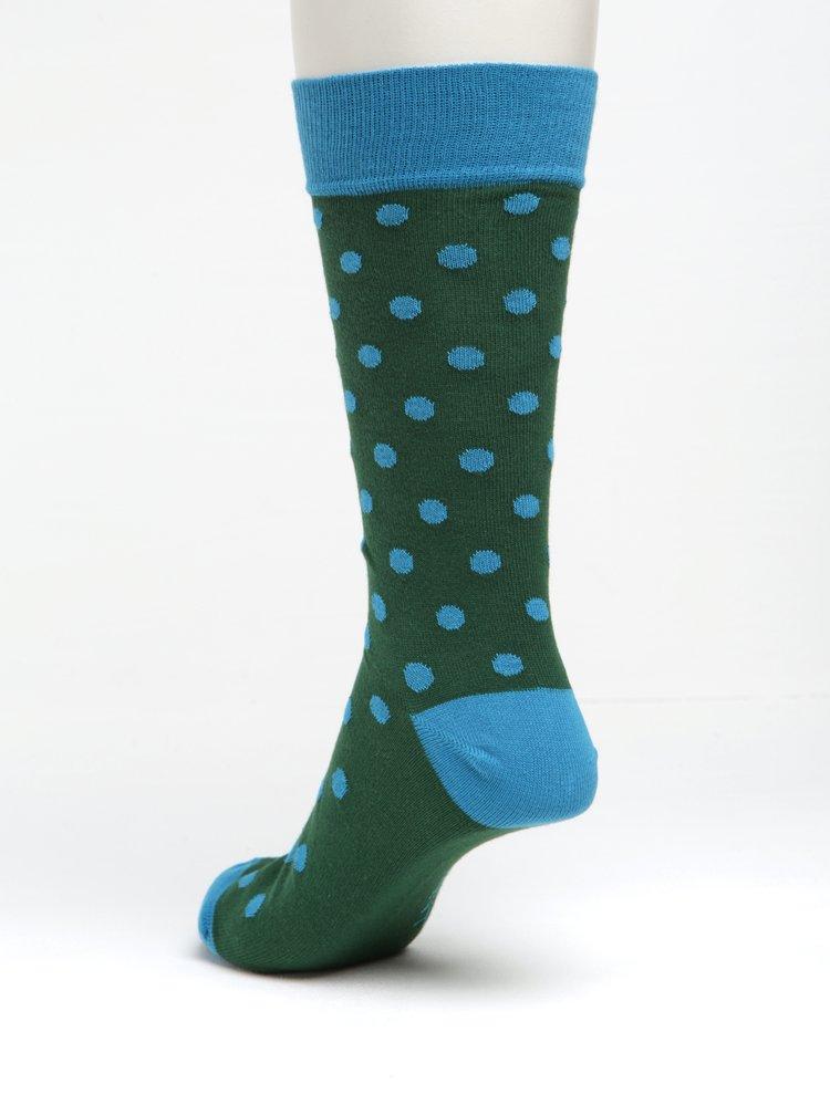 Zelené pánské puntíkované ponožky GANT