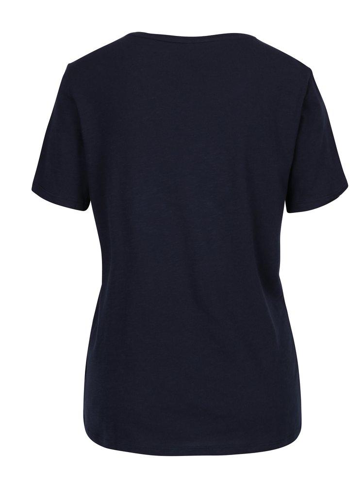 Tmavě modré tričko s potiskem ONLY Minnie