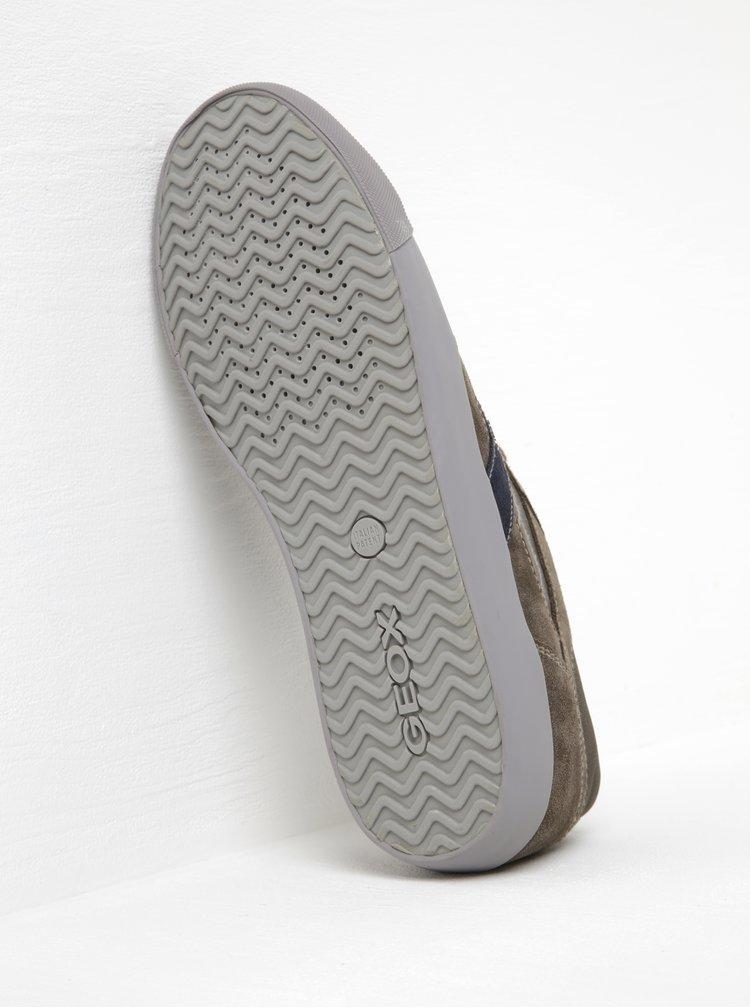 Modro-zelené pánské tenisky se semišovými detaily Geox Smart D
