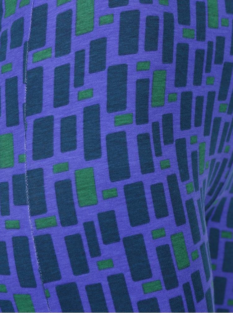 Zeleno-fialové vzorované legíny Tranquillo Zeb