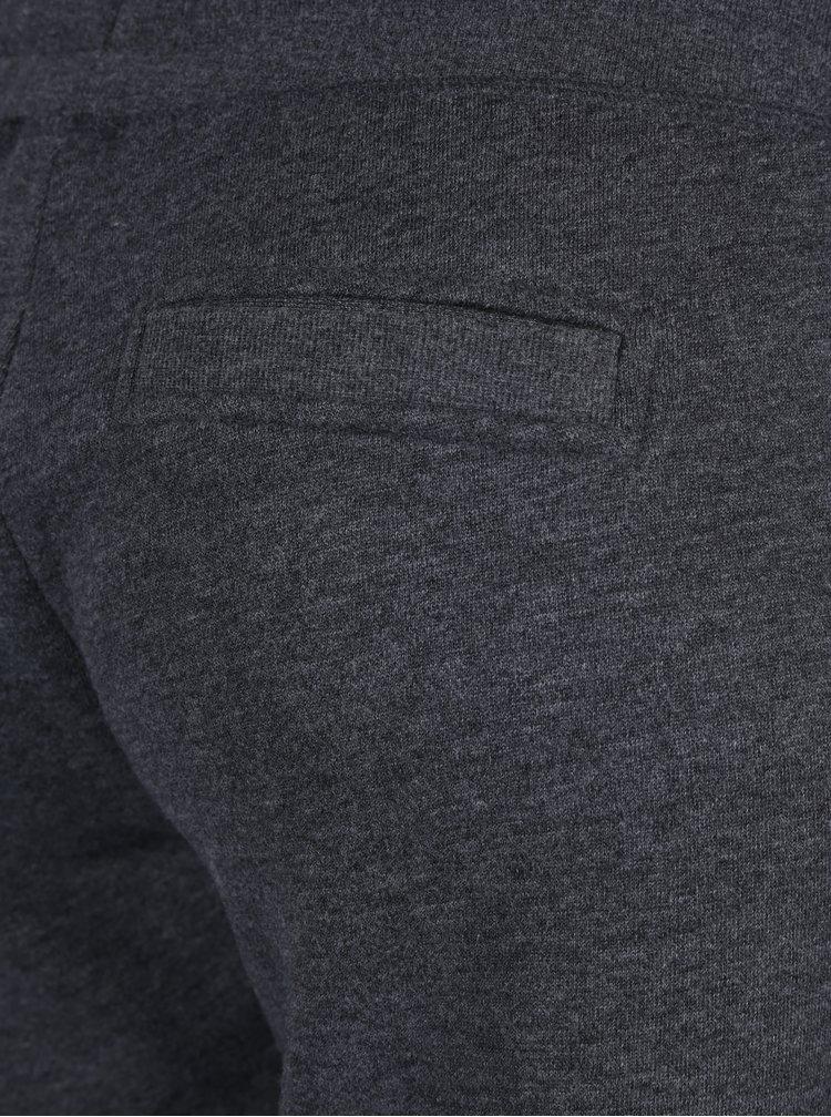 Tmavě šedé žíhané tepláky s kapsami ONLY Coolie