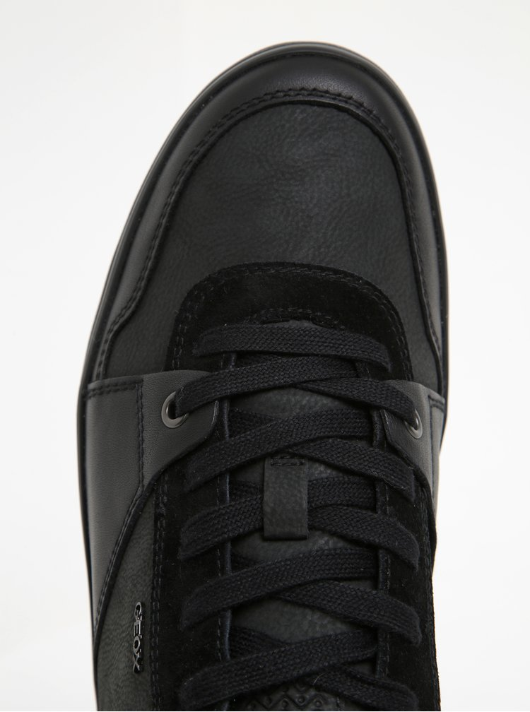 Černé pánské kožené tenisky Geox Box A