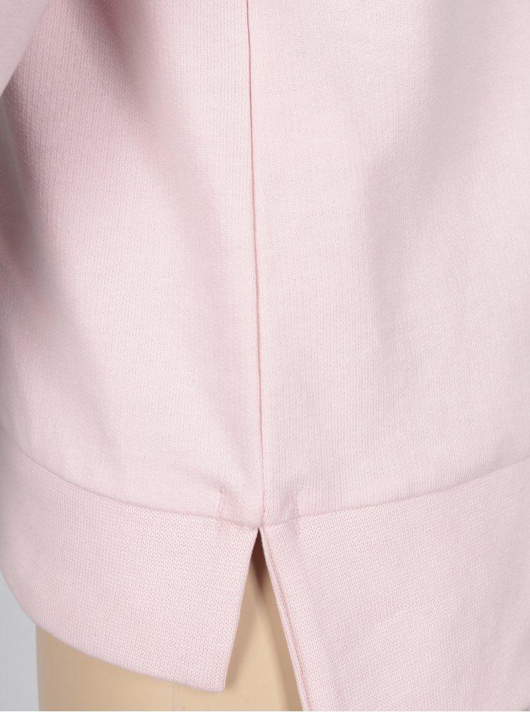 Ružová dievčenská mikina s potlačou 5.10.15.