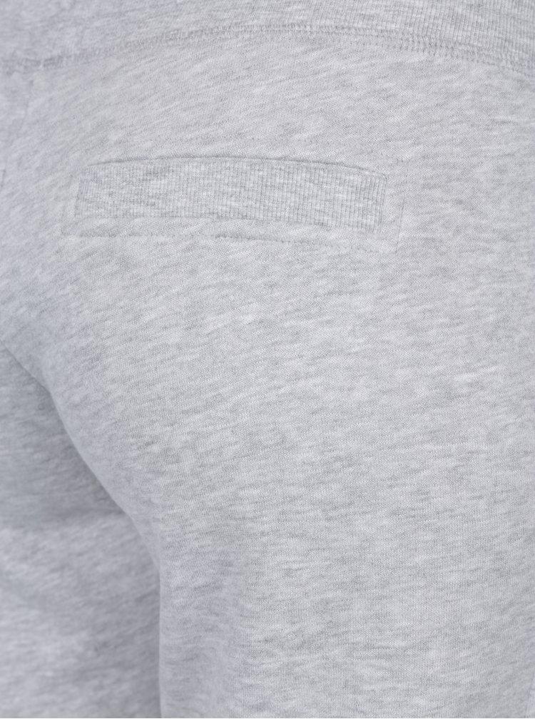 Světle šedé žíhané tepláky s kapsami ONLY Coolie