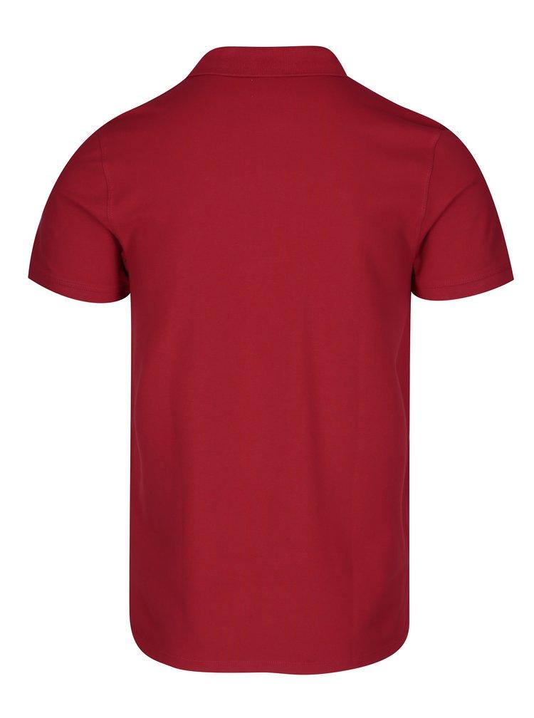 Červené polo tričko Selected Homme Haro