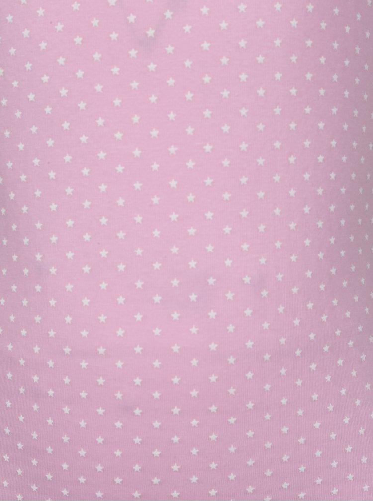 Růžová holčičí košilka s potiskem 5.10.15.