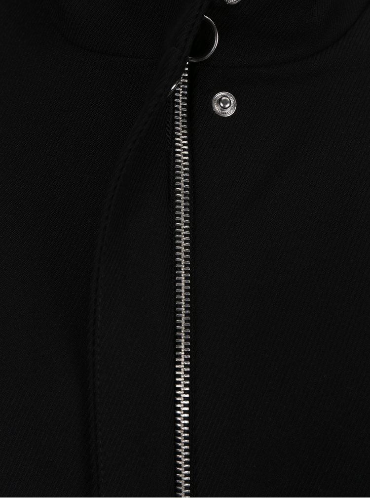 Čierny tenký kabát VILA Misty