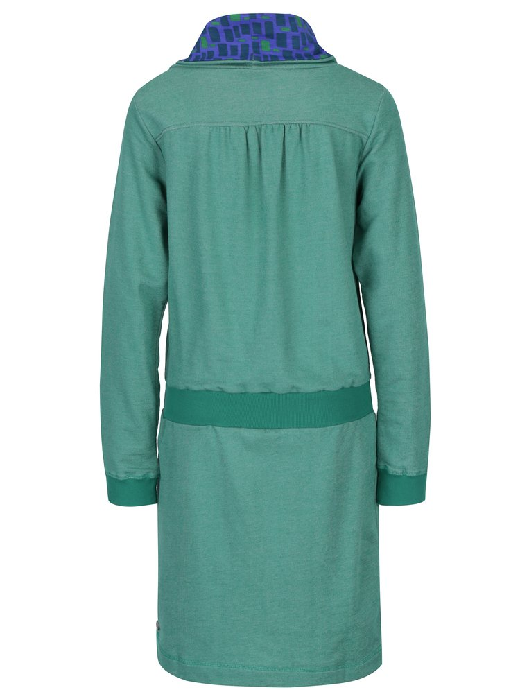 Rochie verde cu guler Tranquillo Macarena