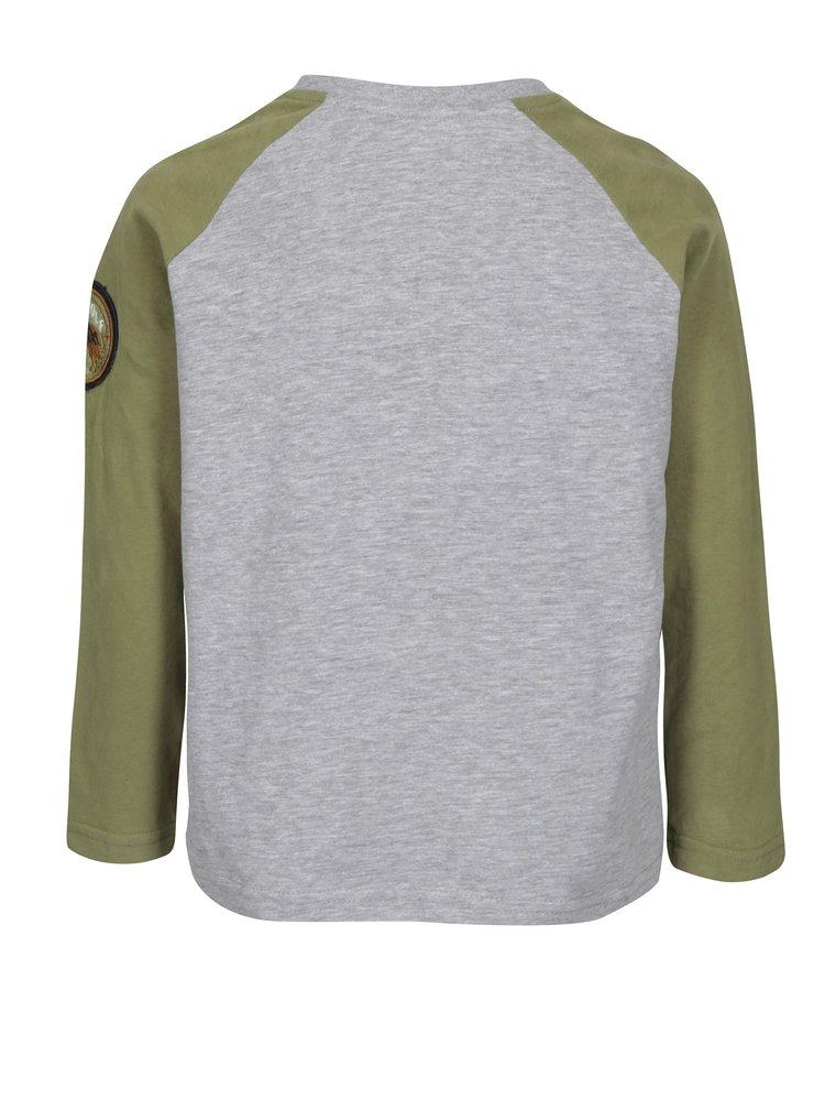 Šedo-zelené klučičí tričko s dlouhým rukávem 5.10.15.