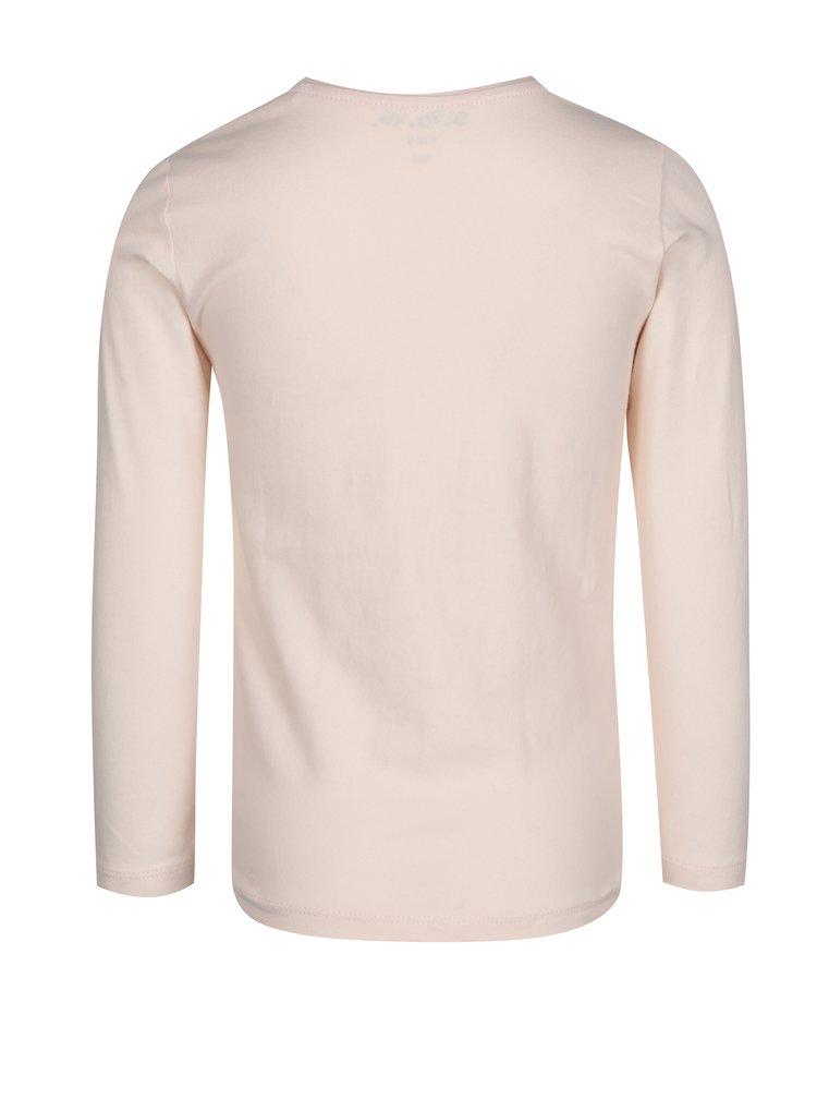 Světle růžové holčičí tričko s dlouhým rukávem 5.10.15.