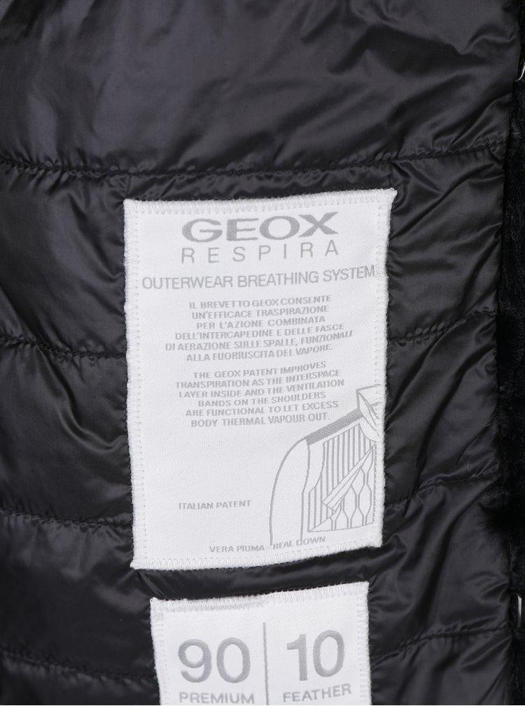 Vesta neagra din blana artificiala Geox