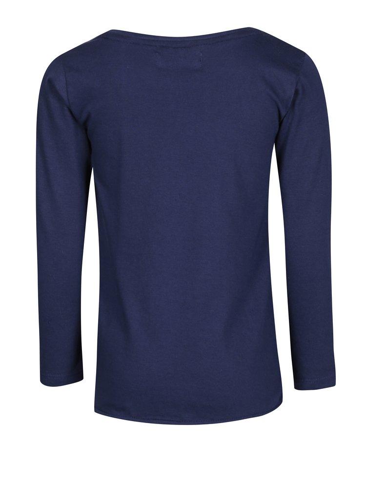Tmavě modré tričko s nášivkou srdce 5.10.15.