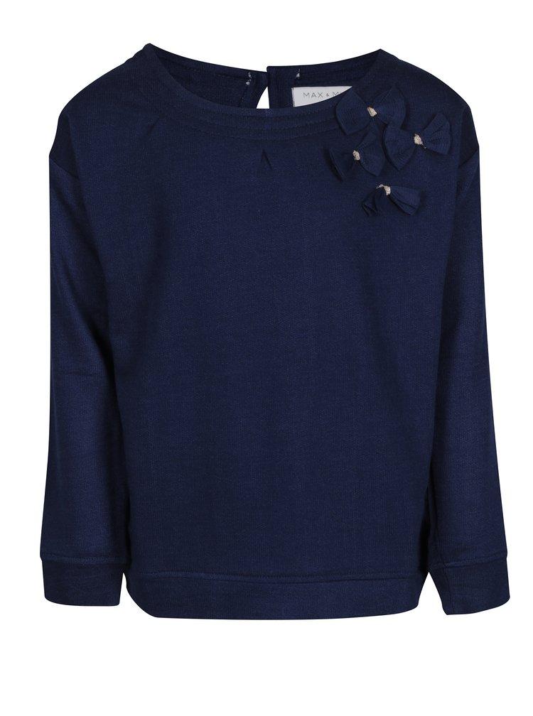 Tmavě modré holčičí tričko s dlouhým rukávem 5.10.15.
