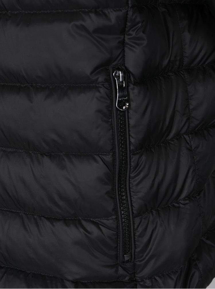 Černá pánská prošívaná funkční péřová bunda Geox