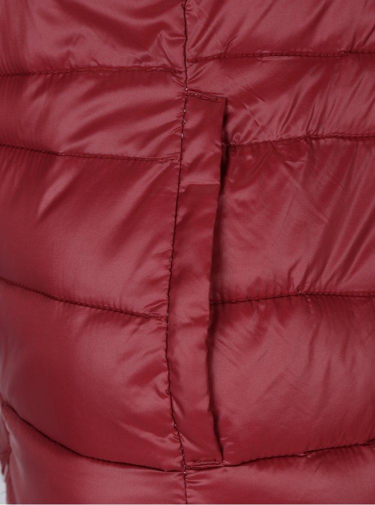 Tehlová prešívaná bunda s kapucňou Haily's Dora