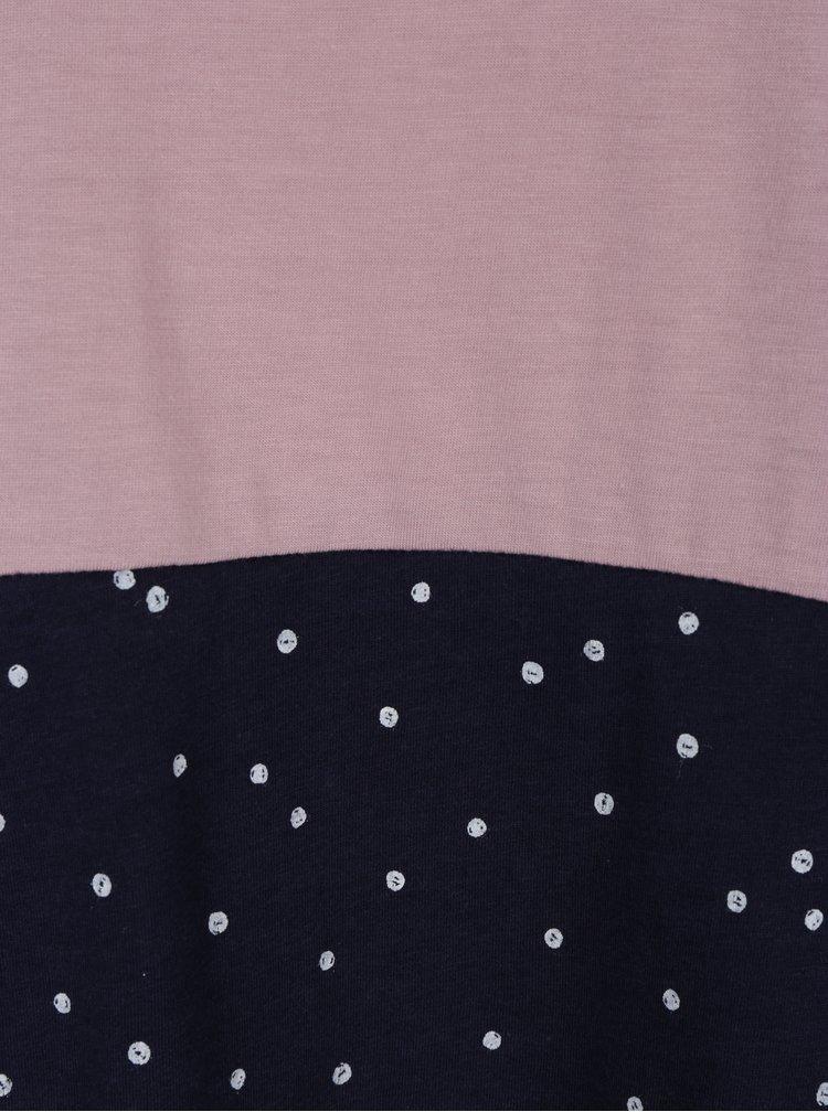 Tricou roz&albastru asimetric cu buline Ragwear Bonny Organic