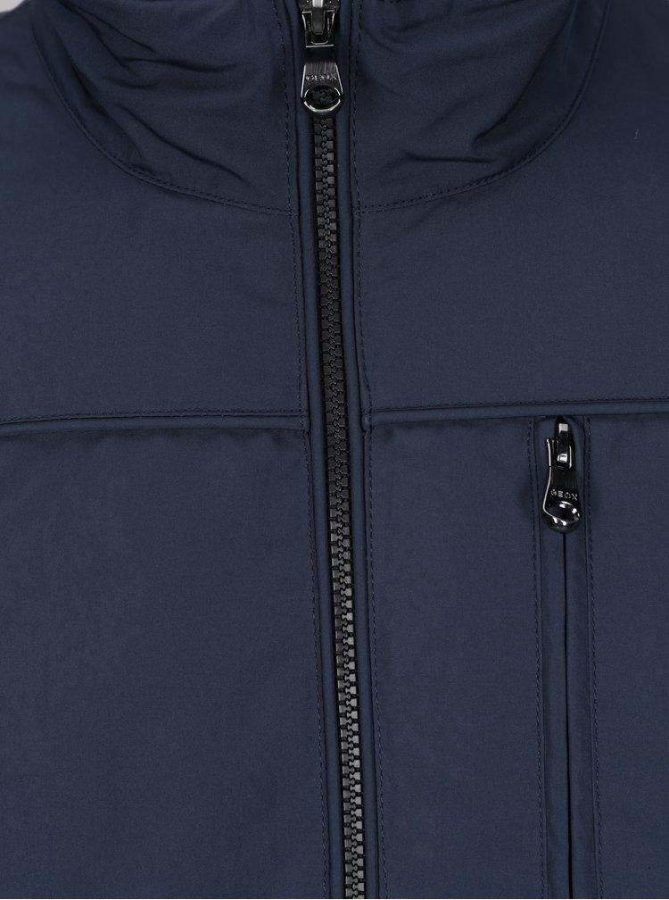 Tmavě modrá pánská bunda se zipem Geox