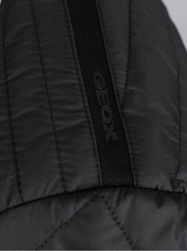 Černá pánská prošívaná bunda Geox