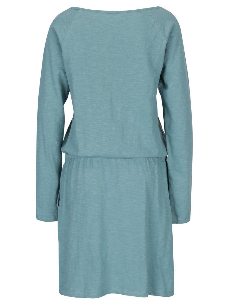 Světle zelené šaty s kapsami Tranquillo Philina
