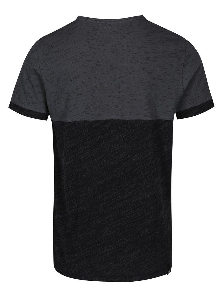 Tricou gri & negru melanj Ragwear Geo