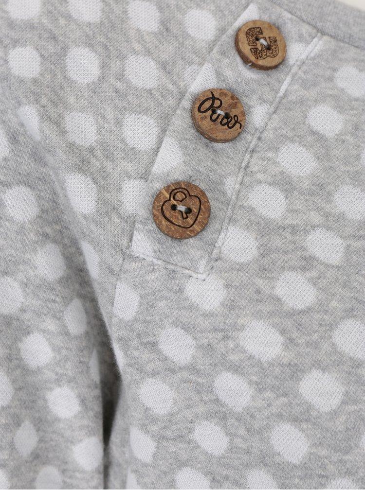 Světle šedá dámská puntíkovaná mikina Ragwear Daria Dots