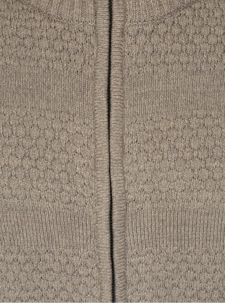 Béžový vzorovaný kardigan Jack & Jones Duberry