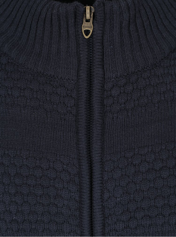 Cardigan bleumarin cu model geometric - Jack & Jones Duberry