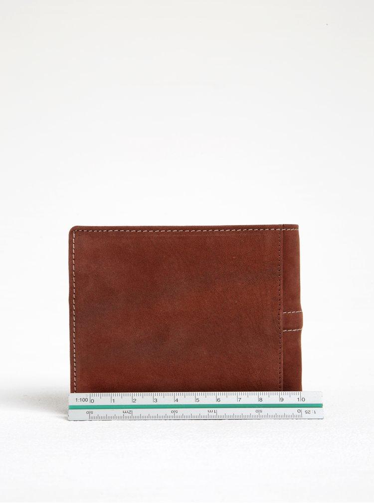 Hnědá semišová peněženka Dice Brad Range