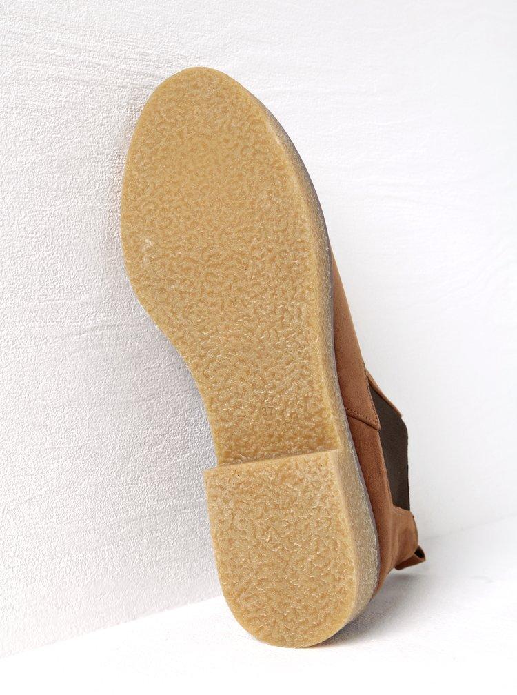 Hnědé kotníkové boty v semišové úpravě OJJU
