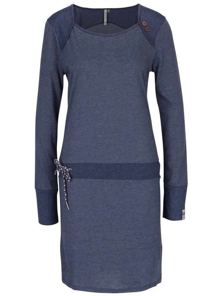 Tmavě modré vzorované šaty s dlouhým rukávem Ragwear Mike Dress Organic