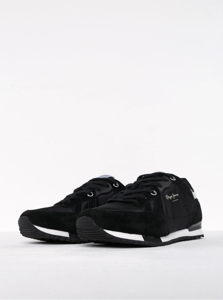 Černé pánské tenisky Pepe Jeans Tinker Bold 17