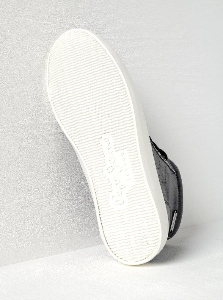 Černé dámské  kotníkové tenisky Pepe Jeans Clinton Sally