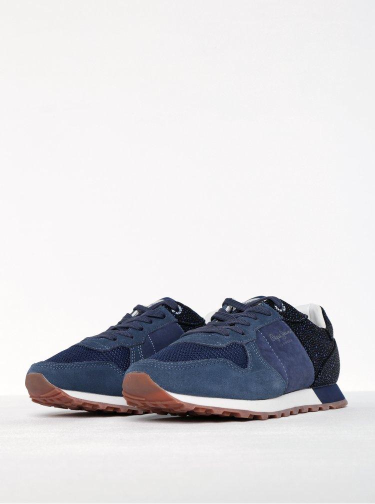 Pantofi sport bleumarin cu negru pentru femei Pepe Jeans Verona Flash