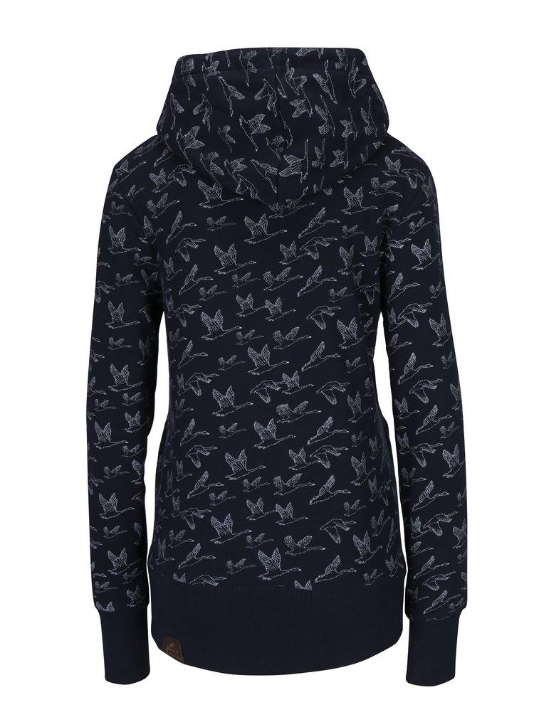 Hanorac bleumarin cu print cu pasari -  Ragwear Hooked