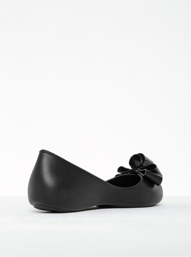 Černé baleríny s mašlí a otevřenou špičkou Zaxy Glam