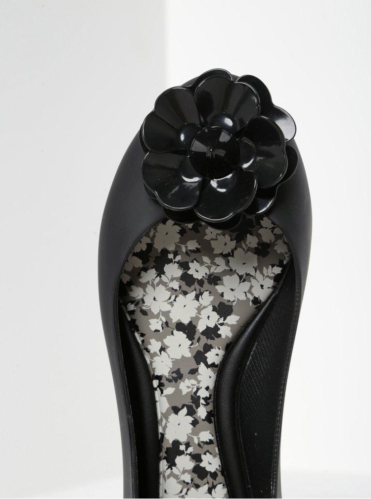Černé baleríny s květem Zaxy Nature