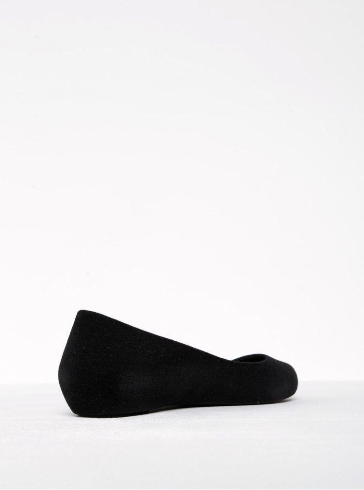 Černé baleríny v semišové úpravě Zaxy Pop Flocked