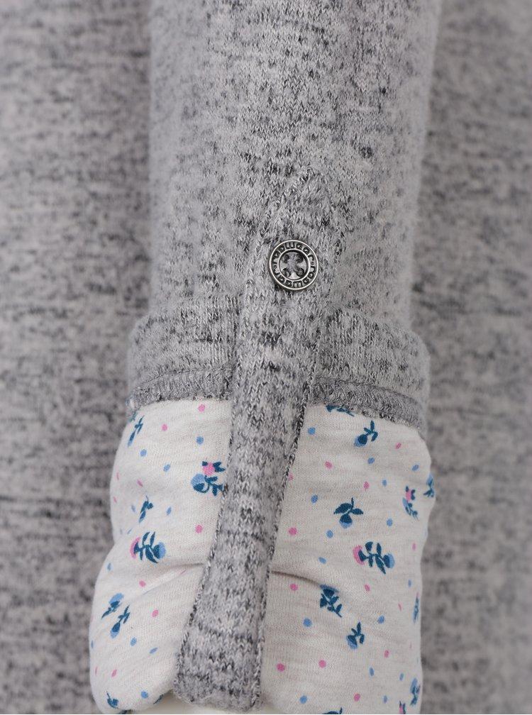 Šedé svetrové žíhané šaty s dlouhým rukávem Ragwear Provence