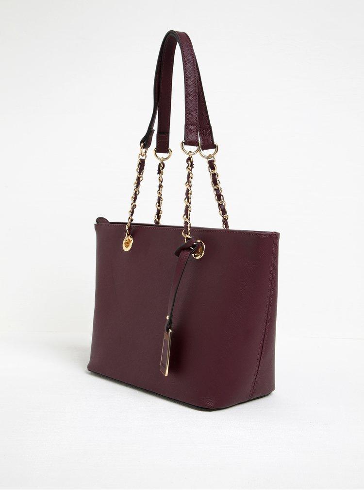 Vínová kabelka s detaily ve zlaté barvě ALDO Jambu