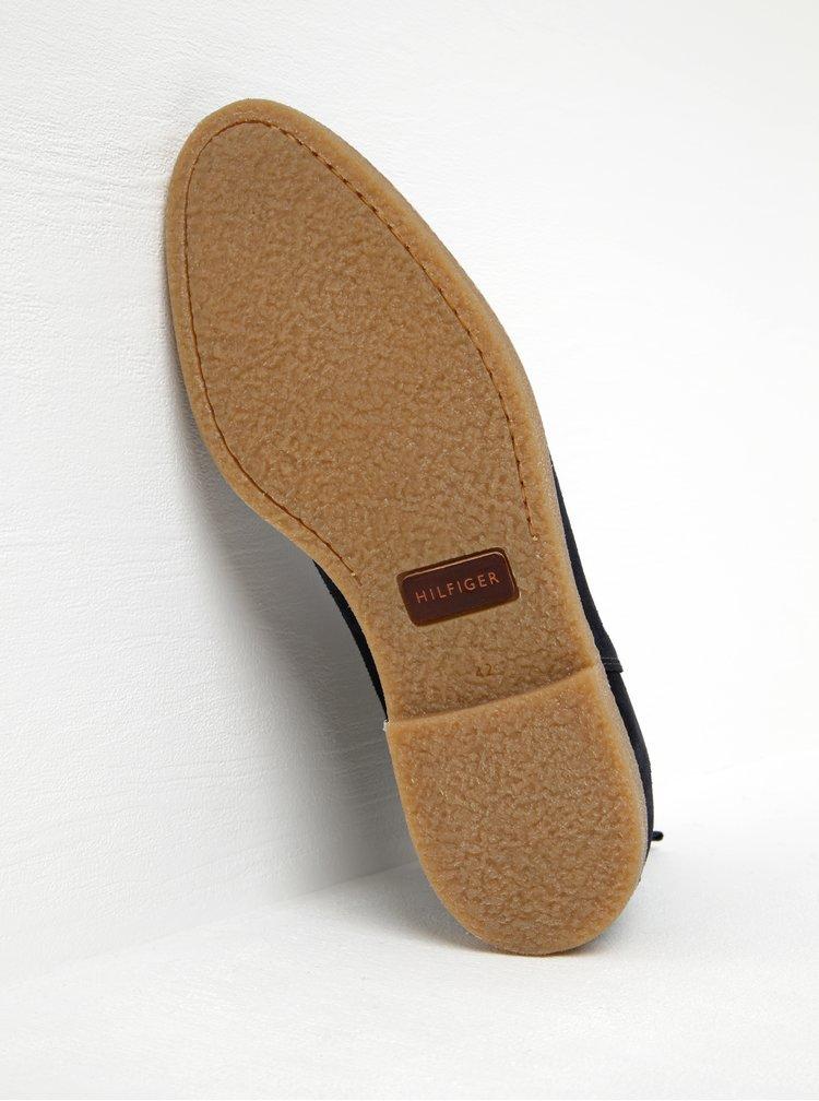 Tmavě modré pánské semišové chelsea boty Tommy Hilfiger William